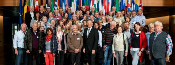 Zweite offizielle Besuchergruppe in Straßburg