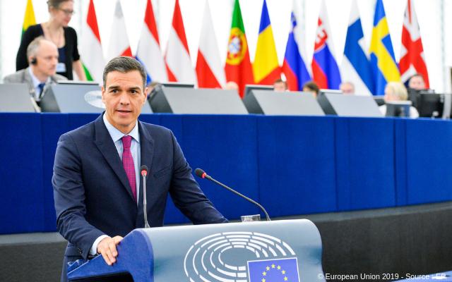 Spanischer Ministerpräsident Pedro Sánchez Pérez-Castejón zur Zukunft Europa