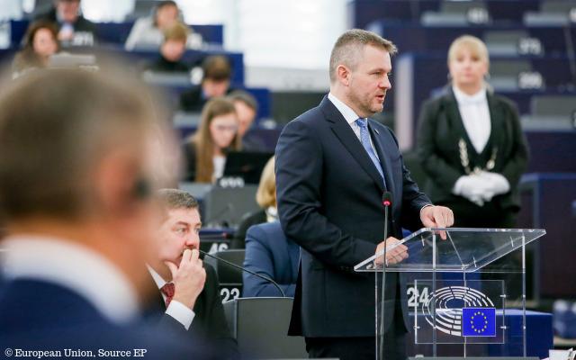 Slowakischer Premierminister Pellegrini im Europäischen Parlament
