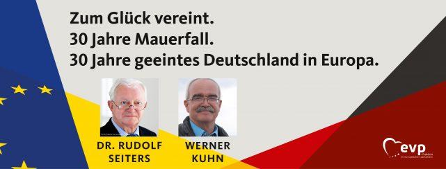 30 Jahre Mauerfall. 30 Jahre geeintes Deutschland in Europa.